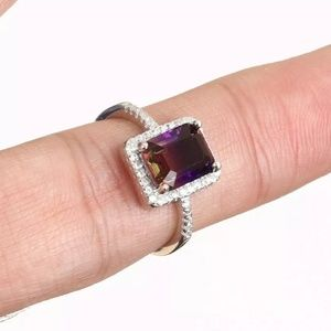 Sultans Amethyst &white sapphire sterling ring